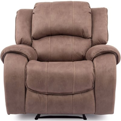 Vida Living Darwin Biscuit Fabric Recliner Chair