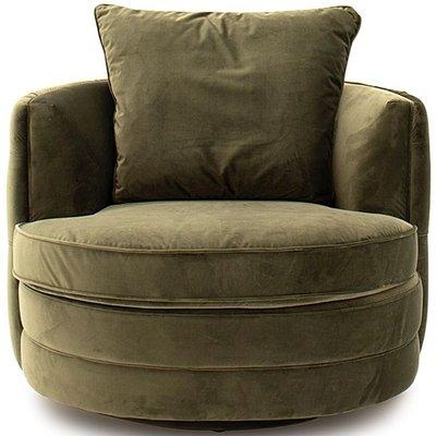 Vida Living Jools Olive Velvet Swivel Chair