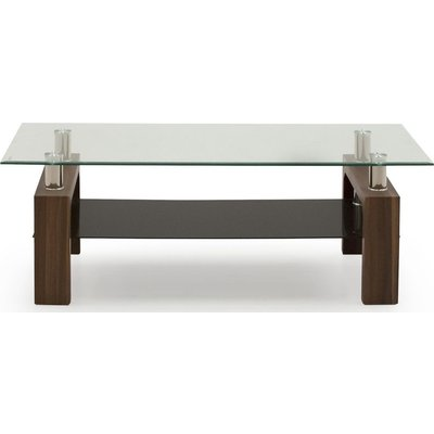 Vida Living Maya Walnut and Glass TV Stand