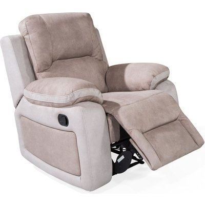 Vida Living Monterray Grey Fabric Recliner Chair