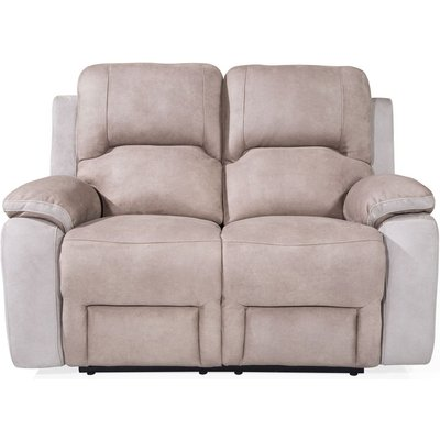 Vida Living Monterray Grey Fabric 2 Seater Recliner Sofa