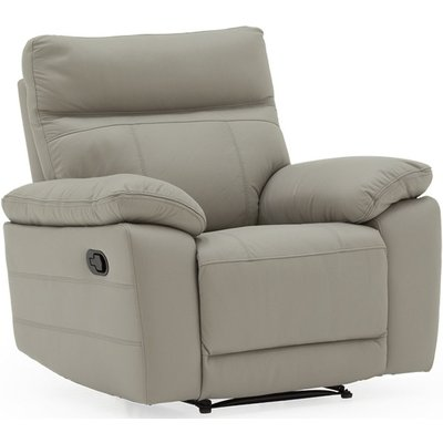 Vida Living Positano Grey Leather Recliner Chair