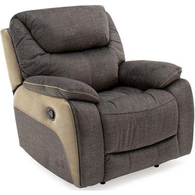 Vida Living Santiago Grey Fabric Recliner Chair