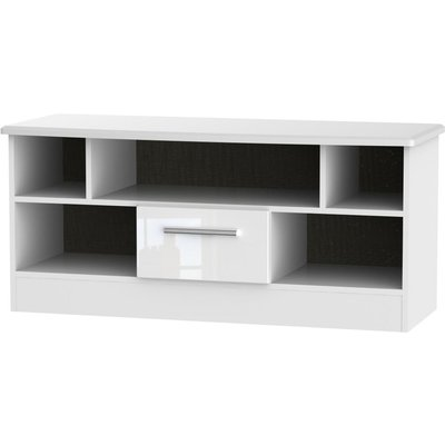 Welcome Living Room Furniture High Gloss White TV Unit - Open