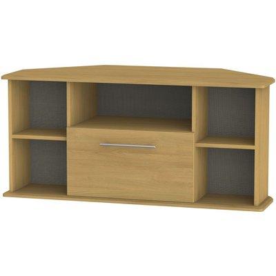 Welcome Living Room Furniture Modern Oak TV Unit - Corner