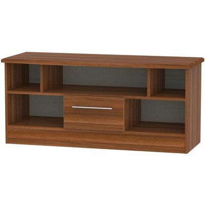 Welcome Living Room Furniture Noche Walnut TV Unit - Open