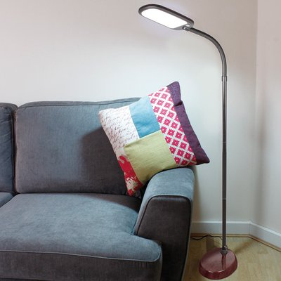 Deluxe Wood Effect Led Floor Lamp