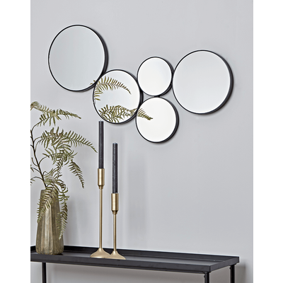 Circles Decorative Mirror - Black