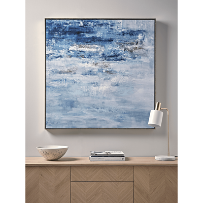 Abstract Seascape Framed Canvas (Sample)