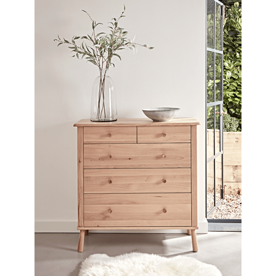 Bergen Oak Chest Of Drawers - Natural