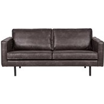 Rodeo 2 Seater Leather Sofa in Black by BePureHome