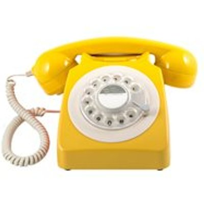 746 RETRO ROTARY DIAL PHONE in Mustard