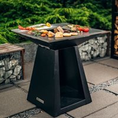 Quan Quadro Medium Wood Fired BBQ - Carbon