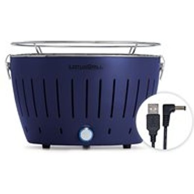 Lotus Grill Mini BBQ with Free Fire Lighter Gel & Charcoal - Blue