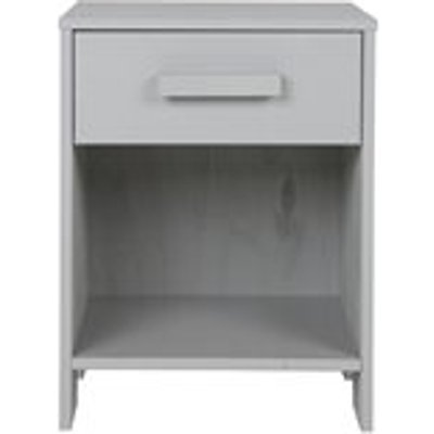 Dennis Bedside Table with Drawer in Concrete Grey by Woood