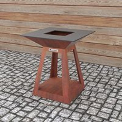 Quan Quadro Air Premium Small Wood Fired BBQ - Corten