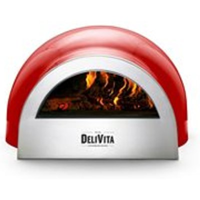 DeliVita Outdoor Pizza Oven in Chilli Red - DeliVita Wood-Fired Chefs Collection