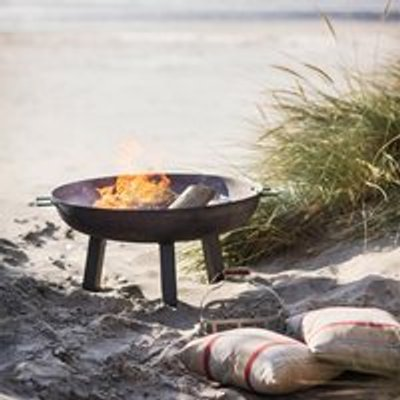 Garden Trading Foscot Outdoor Fire Pit in Raw Steel - Large