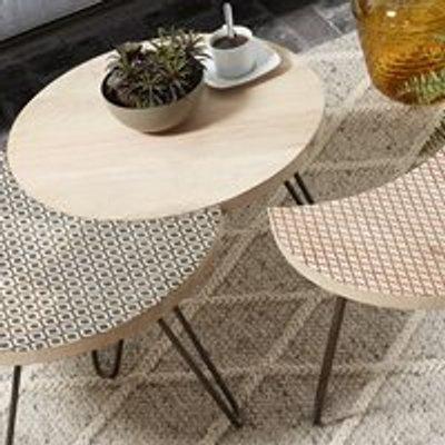 Hoss Set of 3 Mango Wood Coffee Tables