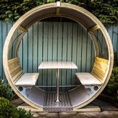 Unique Garden Wheel Bench