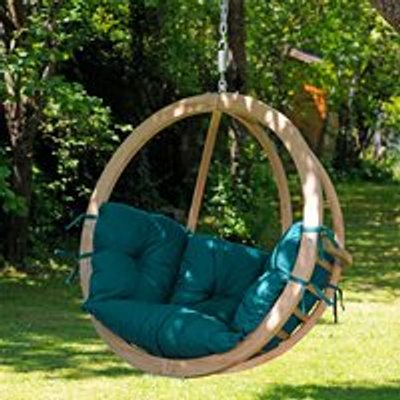 Globo Garden Hanging Chair in Green