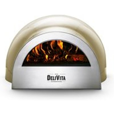 DeliVita Outdoor Pizza Oven in Olive Green - DeliVita Wood-Fired Chefs Collection