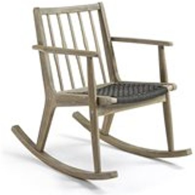 Phylip Solid Acacia Wood Rocking Chair in Greywash
