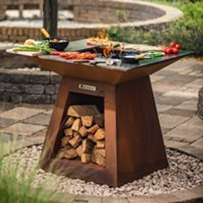 Quan Quadro Premium Large Wood Fired BBQ - Corten