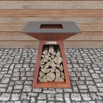 Quan Quadro Premium Small Wood Fired BBQ - Corten