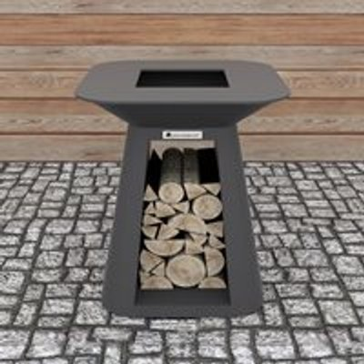 Quan Rondo Premium Small Wood Fired BBQ - Corten