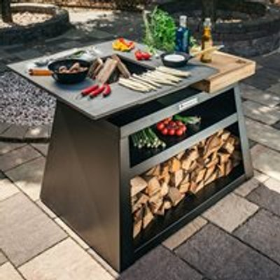 Quan Quadro Large Wood Fired BBQ - Carbon