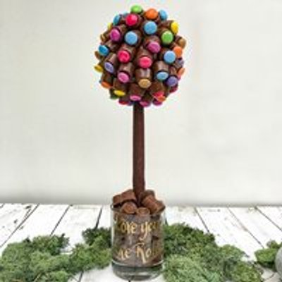 Personalised Chocolate Rolo & Smartie Sweet Tree - 50cm