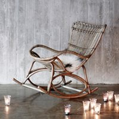 Sika Rattan Monet Rocking Chair in Taupe