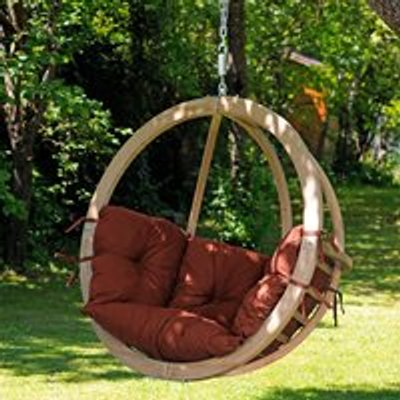 Globo Garden Hanging Chair in Terracotta