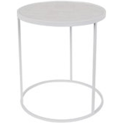Zuiver Glazed Side Table in White