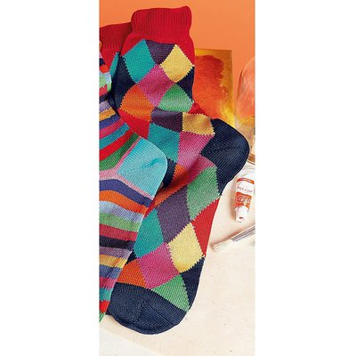 Harlequin Cotton Socks