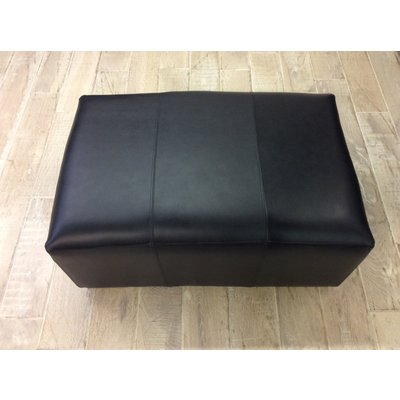 Sloane Footstool Old English Waxy Coat  Leather- Black