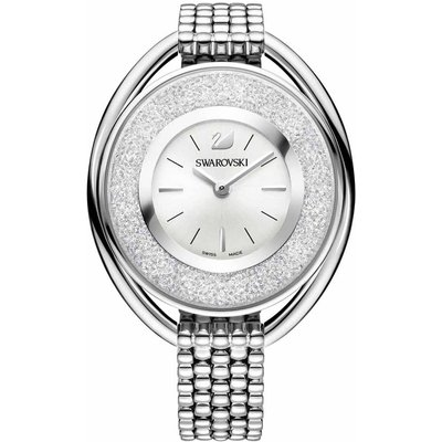 Swarovski Crystalline Oval Bracelet Watch, White, Stainless Steel