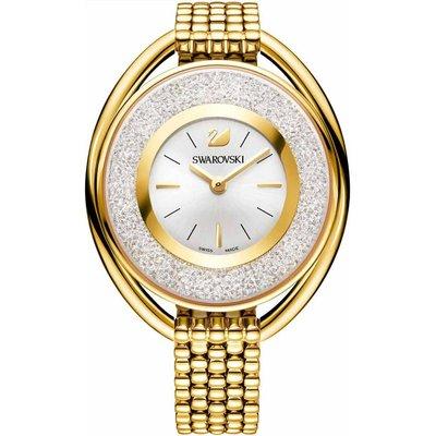 Swarovski Crystalline Oval Bracelet Watch, White, Gold Plated
