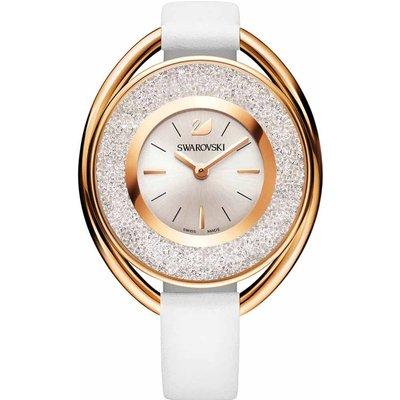 Swarovski Crystalline Oval Watch, White, Rose Gold Plated