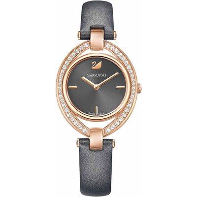 Swarovski Stella Watch, Dark Grey, Rose Gold Plated