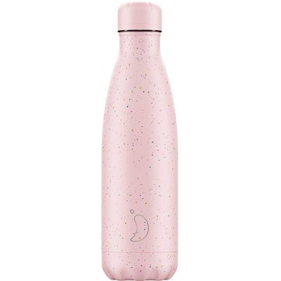 Chilly's 500ml Speckle Pink Water Bottle