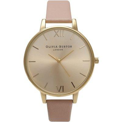 Olivia Burton Big Dial Dusty Pink & Gold Watch
