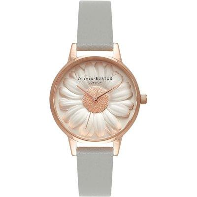 Olivia Burton Flower Show 3D Daisy Grey & Rose Gold Watch