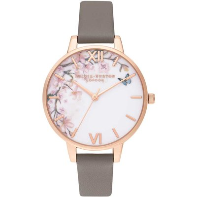 Olivia Burton Pretty Blossom Demi London Grey & Rose Gold Watch