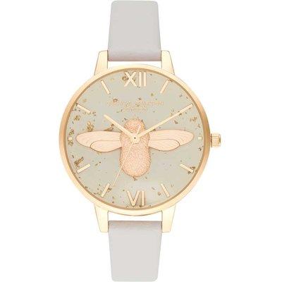 Olivia Burton Celestial 3D Bee, Pearl Pink & Gold Watch