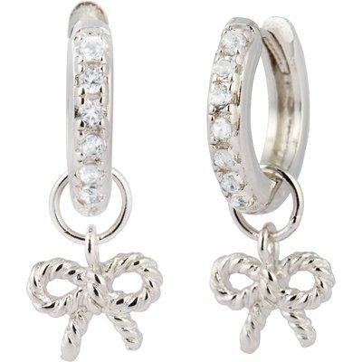 Olivia Burton Vintage Bow Huggie Silver Earrings