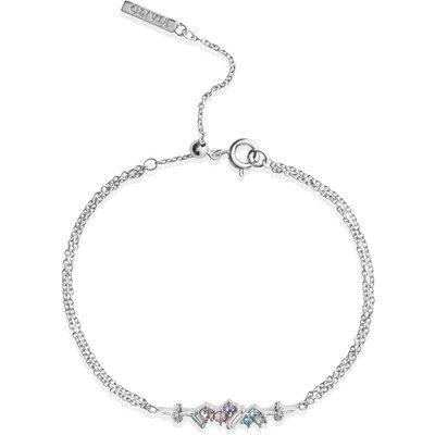 Olivia Burton Rainbow Bee Silver Chain Bracelet