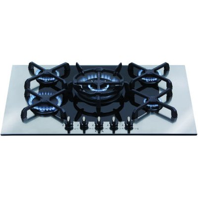 CDA 4Q5SS 70cm Wide Five burner Q Style Gas Hob in Stainless Steel - 5060143317521