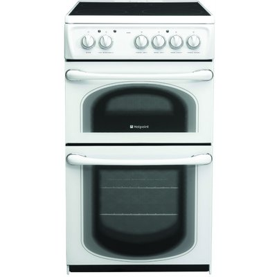 Hotpoint 50HEPS 50cm Electric Cooker with Double Oven in Polar White - 5016108810248
